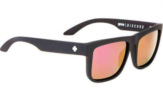 081deaaf35 Matte Black SPY + KAB Frame Grey w Pink Spectra Lens  sunglasses
