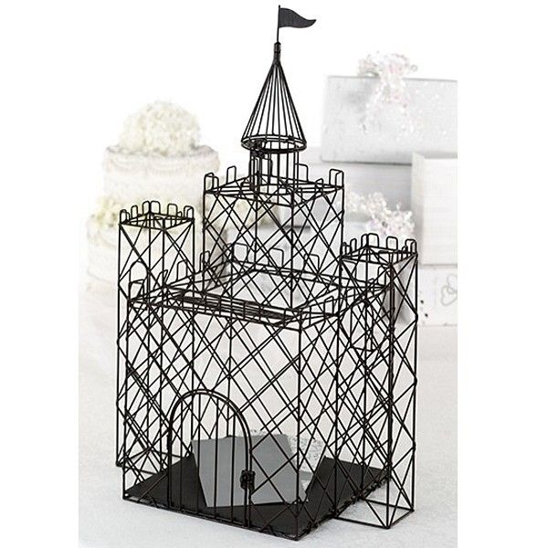 25 X 16 11 Black Metal Castle Gift Card Holder For Fairytale Weddings Love The Idea Of Spray Painting This White
