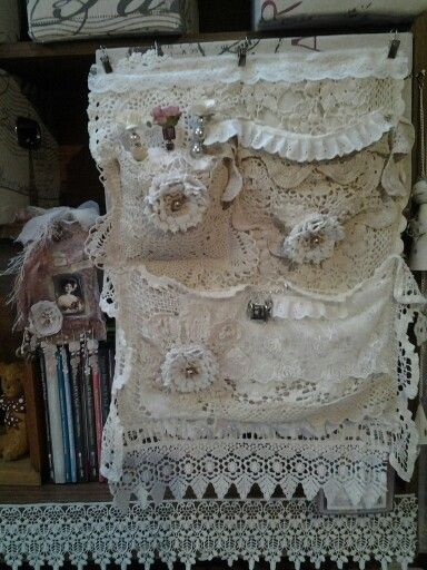 Lace/doiley wall hanging