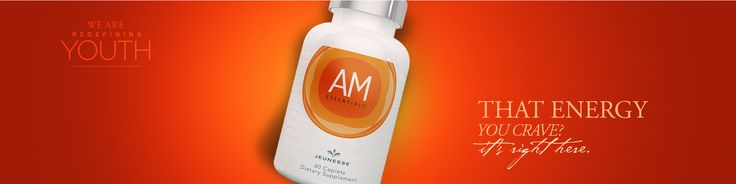 AM & PM Essentials™ These powerful dietary supplements effectively delay the symptoms of premature aging. AM Essentials™ contains energy-boosting nutrients that regulate mental clarity and focus. The PM Essentials™ formula balances and relaxes your body for a restful sleep. *60 caplets per bottle. https://seeliveresults.jeunesseglobal.com/products.aspx?p=NUTRIGEN_AMPM