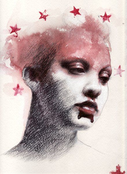 Drawing by Italian artist Saturno Butto