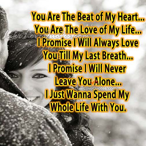 I Just Want To Spend My Life With You Quotes Braderva Doceinfo
