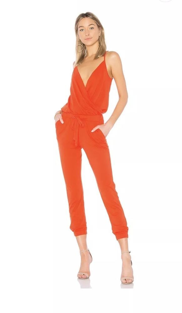 51be77d0625f Revolve Clothing Bobi Jersey Surplice Jumpsuit Size S  fashion  clothing   shoes  accessories