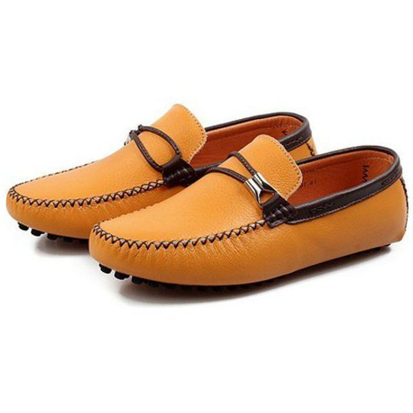 British Style Men's Boat Moccasin Leather Shoes Driving Loafer Oxfords - US$43.02