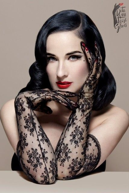 Dita Von Teese - The Flirteese Gloves - Dita is making a serious case for bringing back the glove.