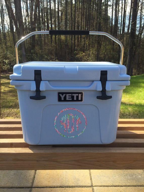 Items similar to lilly pulitzer inspired monogram yeti cooler decal on etsy