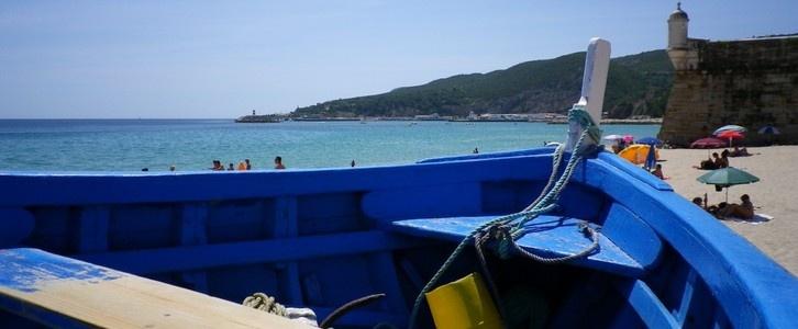Fishing boat in Sesimbra.