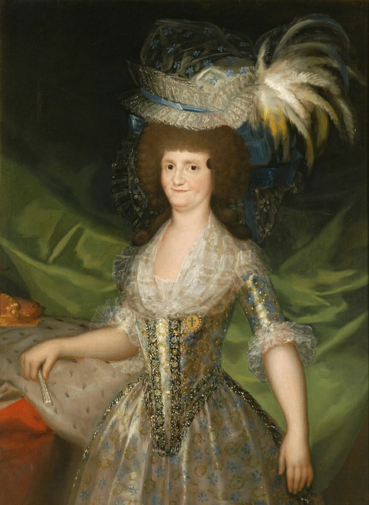 "Francisco de Goya: ""María Luisa de Parma, reina de España"". Oil on canvas, 127 x 94 cm, 1790. Museo Nacional del Prado, Madrid, Spain"