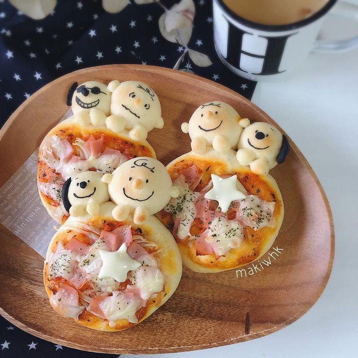 Snoopy & Charlie pizza bread by ⚓︎Maki⚓︎ (@makiwhk)