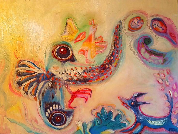 Oilpainting by Charlotte Wiktorsdotter  60x50 cm