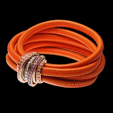 MT-elevated Leather cord De Grisogono ALLEGRA Collection - Bracelet.