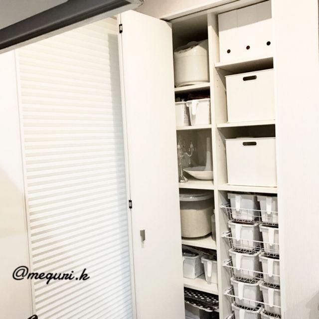 meguri.kさんの、収納アイデア,一条工務店,seria,モノトーン,一軒家,ismart,白黒,IG→meguri.k,白黒インテリア,100均,IGやってます,アイスマート,モノトーンインテリア,収納,セリア,キッチン,のお部屋写真