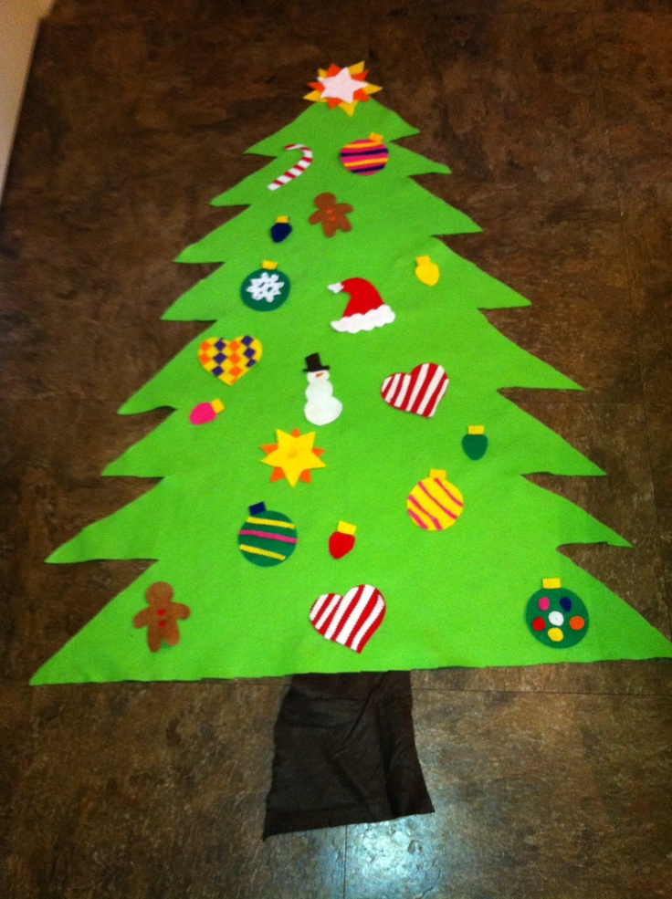 Felt Christmas Tree To Keep The Little Ones Out If The