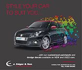 Customize your Suzuki - any colour, any design! www.edgars.co.uk