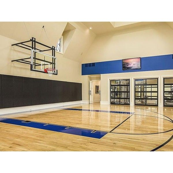 Magnificent Gated Mansion in Dallas Indoor Basketball Court ❤ liked on Polyvore featuring house, backgrounds, places, school and home
