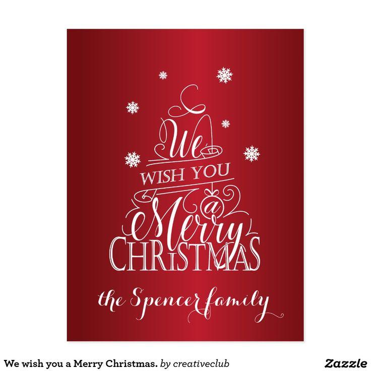 We wish you a Merry Christmas. Postcard #merrychristmas #card #seasonsgreetings #happyholidays