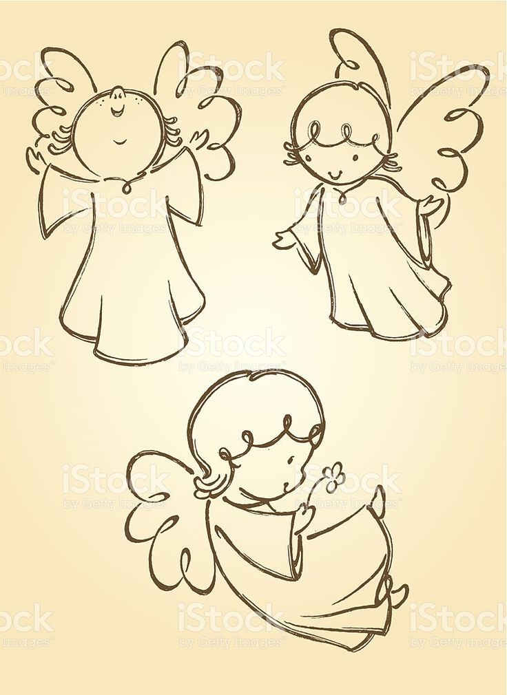 Variation of angel poses. Traced from my hand drawn artwork, properly…