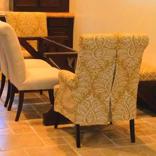 Two Custom Chair Covers