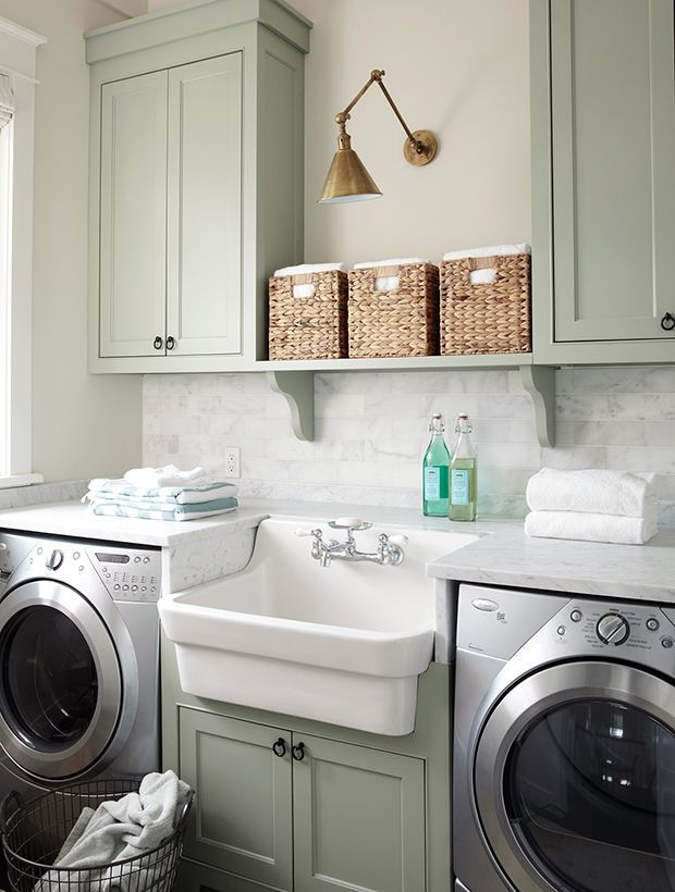How To Refresh Your Laundry Room In A Weekend Laundry Room Inspiration Laundry Room Design Laundry Room Cabinets