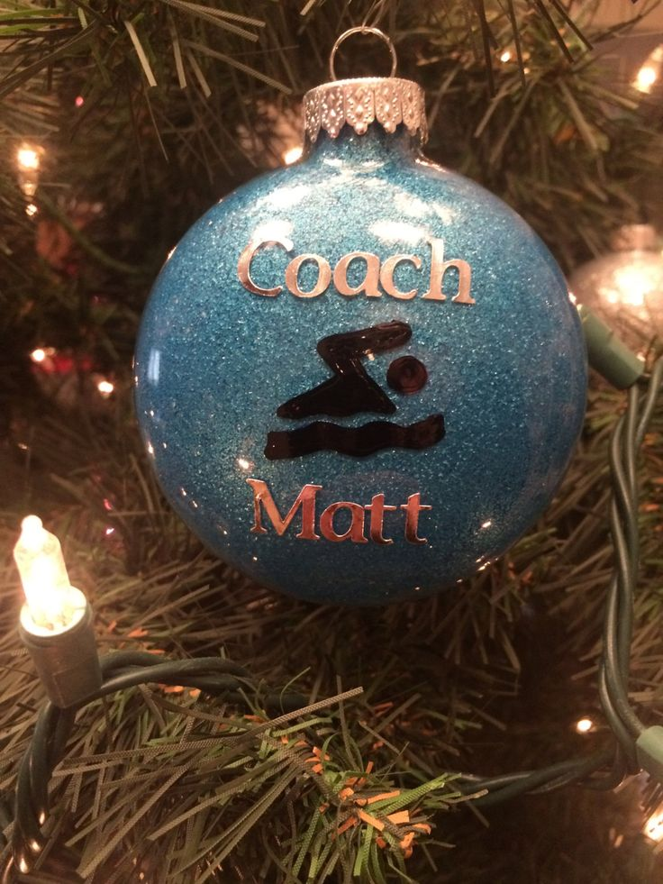Swimmer Ornament - Swimmer Glitter Ornament - Personalized Swimmer Ornament - Swimmer Gift - Swim Coach Gift - Swim Team Gift - Personalized by CrazyCraftersFun on Etsy