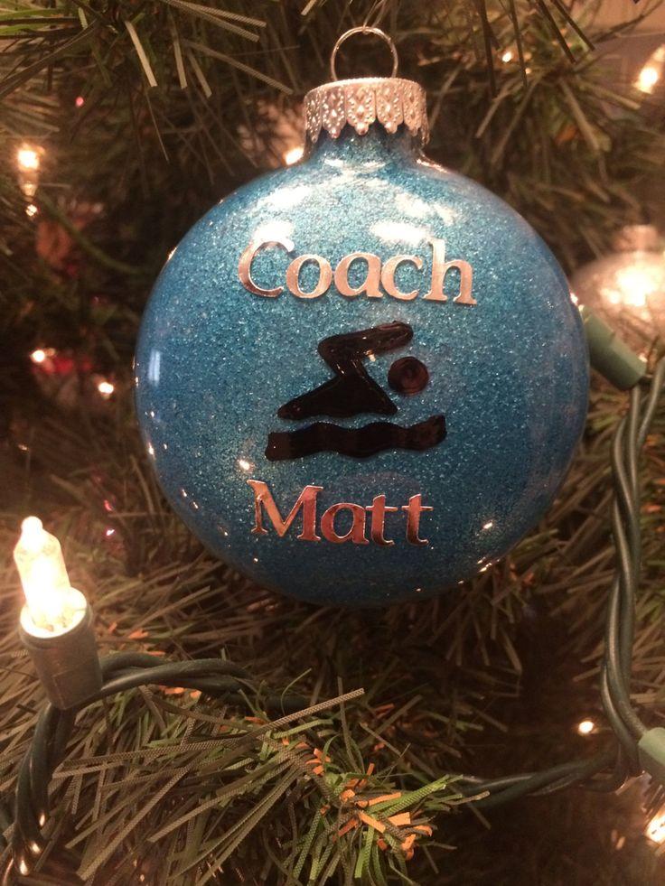 Swimmer Ornament - Swimmer Glitter Ornament - Personalized Swimmer Ornament - Swimmer Gift - Swim Coach Gift - Swim Team Gift - Personalized by CrazyCraftersFun on Etsy