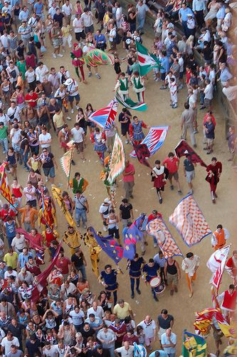 Il Palio di Siena. Horse race in Siena, Italy. Happens once in early July and again in early August!