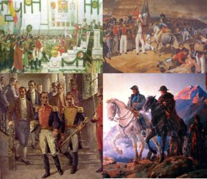 The Spanish American wars of independence were the numerous wars against Spanish rule in Spanish America that took place during the early 19th century, after the French invasion of Spain during Europe's Napoleonic Wars.