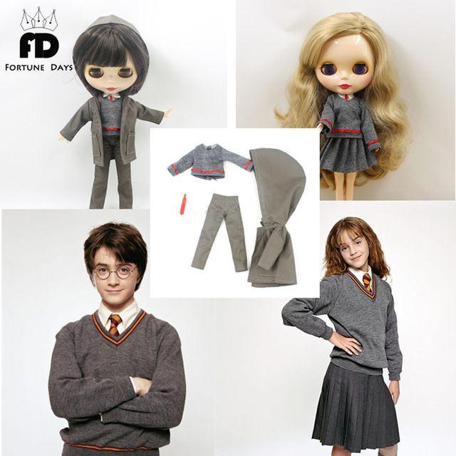 Harry Potter traje uniforme abrigo gris falda tie