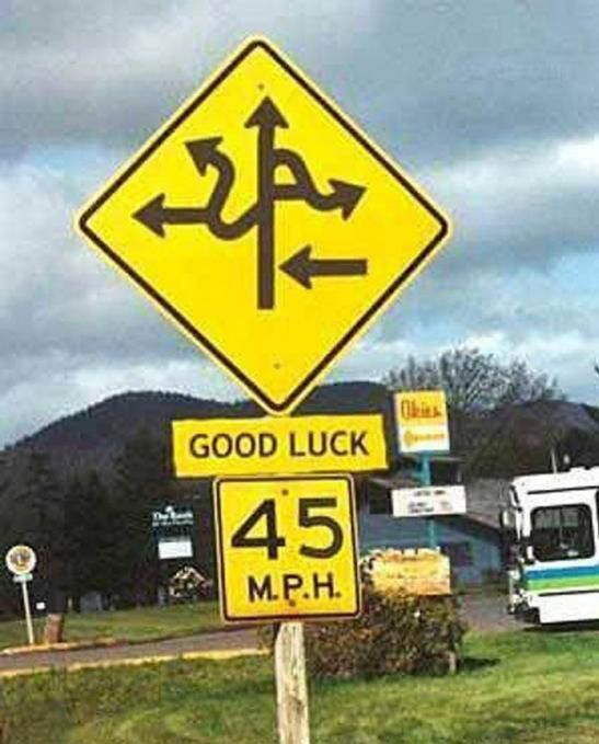 @!#The Roads, Good Luck, Funny Signs, Funny Pictures, Funny Stuff, Street Signs, Funny Commercials, Funnysigns, Funny Roads Signs