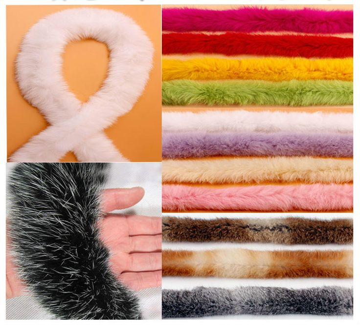 2Yard/Lot Rabbit hair lace trim wool fur clothing accessories DIY handmade scarf boots decoration lace fabric