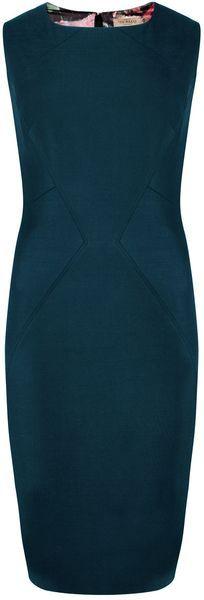 Ted Baker London Yaffad Shiny Lavanta Suit Dress - Lyst