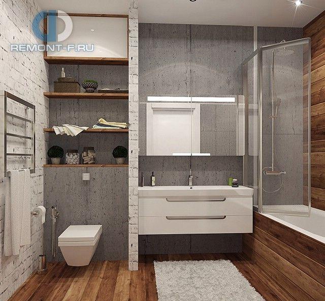 Дизайн квартиры. Фото ванной в стиле лофт.