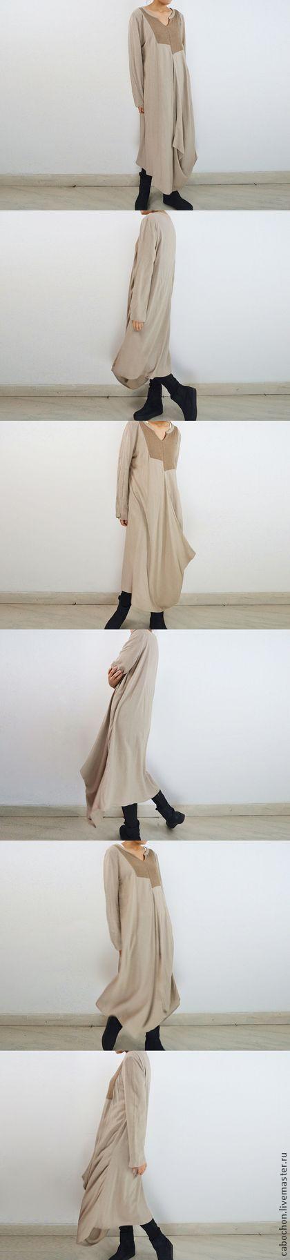 Платья ручной работы. Ярмарка Мастеров - ручная работа Платье льняное необычного асимметричного кроя в двух цветах. Handmade.