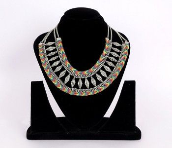 Zuelia Trendy Fancy Designer Handmade Unique Statement Multi-Colour and Silver Italian Fashion Necklace with Beads for Women DEAL OF THE DAY | FLAT 50% OFF | Offer valid only for today! Pair this beautiful handmade piece with any dress, indian or western, for any time or occasion, evening party, dinner, day time get-together, anytime. Stay in Fashion! Stay Awesome! with Zuelia BUY NOW! #zuelia #iamzuelia #amazon #mirraw #stayinfashionstayawesome #fashion #shopping #onlineshopping #jewelry…