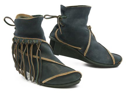 It's good to be on the fringe of things in Trippen's California bootie! Love that back lacing! xo, Ped Shoes.