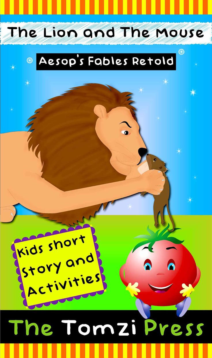 Kindergarten Stories | The lion and the mouse - short moral story for kids with pictures |