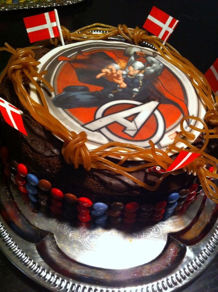 Thor fødselsdags kage til min søn