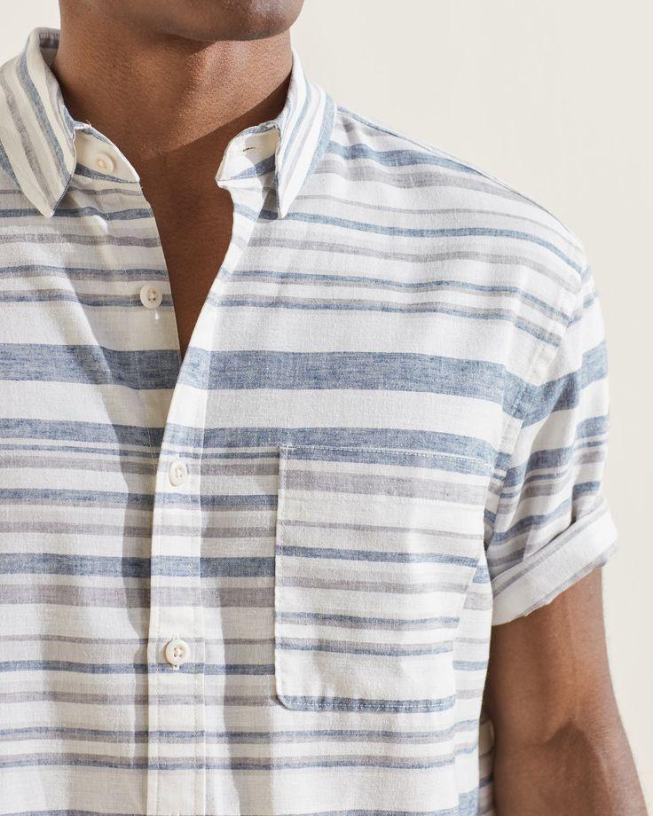 Men's Help Blended Summer Button Down Shirt at UpWest Button Downs, Button Down Shirt, Plus Size Men, Hemp, Men Casual, Buttons, Fabric, Mens Tops, Stuff To Buy