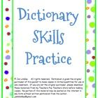 This is a packet of eleven practice activities for basic dictionary skills.  Students practice using pronunciations by choosing a word that rhymes ...