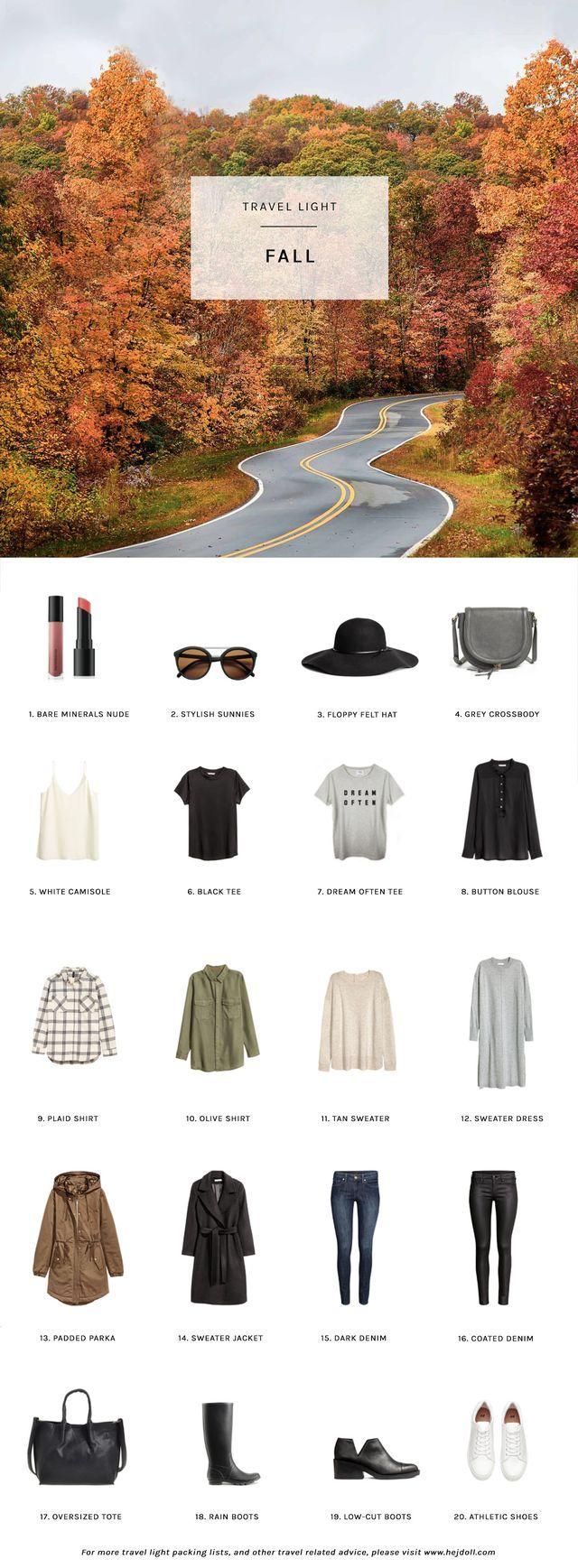 Fall Packing List on a Budget | hej doll | Bloglovin'