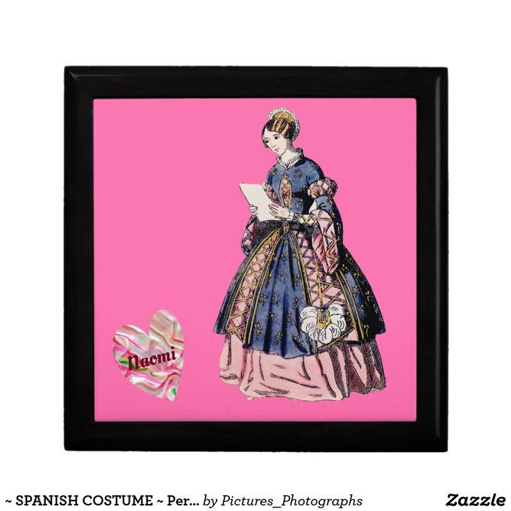 ~ SPANISH COSTUME ~ Personalised for NAOMI ~ Gift Box