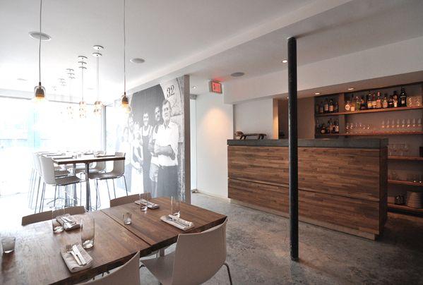 A modern Italian restaurant in Edmonton.