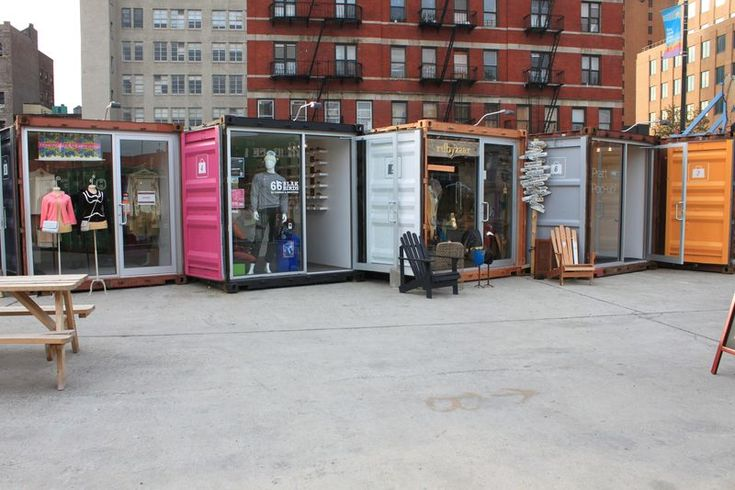 Dekalb market city point ,  shipping containers converted into retail stores (near Brooklyn)
