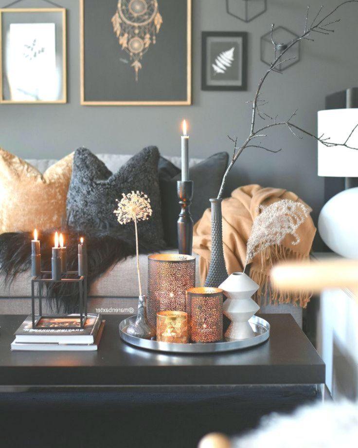 Dieses Schwarze Graue Und Goldene Livingroom Fuhlt Sich Sehr