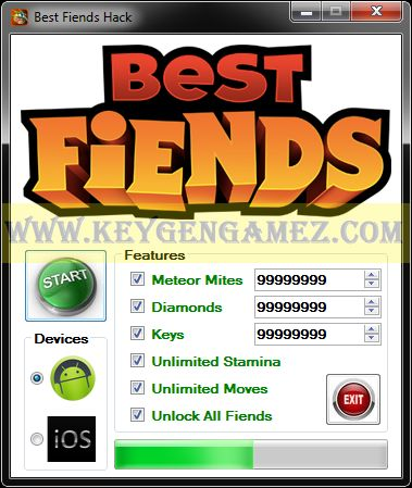 Are you looking for Best Fiends Hack? If the answer is YES, you've got in the right place. During this time, you will find out very quickly how to Unlock All Fiends, how to get Unlimited Moves and Stamina, and how to add as many Meteor Mites, Keys and Diamonds you want with Best Fiends Hack Tool for Best Fiends video game.