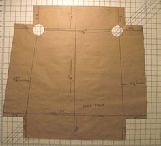 drafting the side chair slipcover pattern via craftsy.com