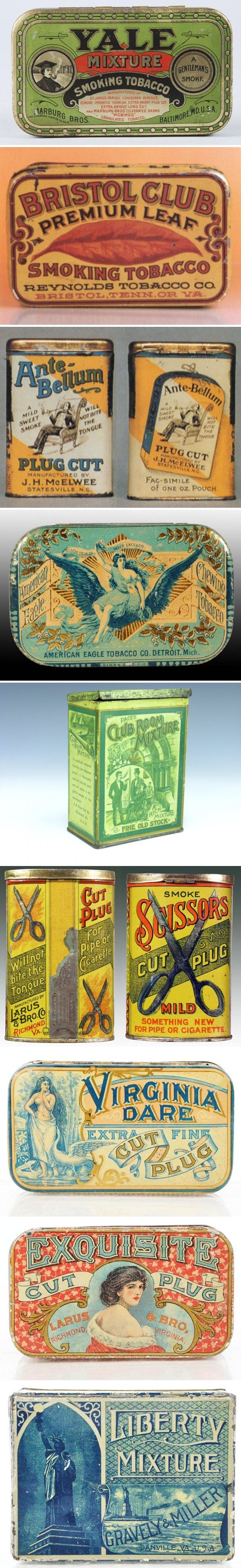 Assorted Vintage Tobacco Tins - Check it Bristolians it says TN or VA  - awesome!