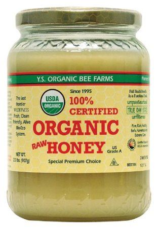YUM!! YS Organic Bee Farms CERTIFIED ORGANIC RAW HONEY 100% CERTIFIED ORGANIC HONEY Raw, Unprocessed, Unpasteurized - Kosher 32oz: