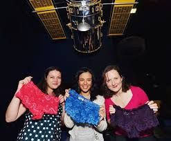 Becky Pants launching our Reach for the Stars pants pack with Biochemist, Wild Animal Biologist and Presenter Liz Bonnin and Senior Medical Physicist and Positron Emission Tomography (PET) specialist and ScienceGrrl Director Heather Williams at a special photo shoot at the Science Museum in 2013