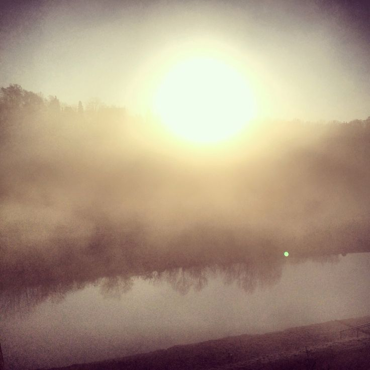 foggy Isar in the morning